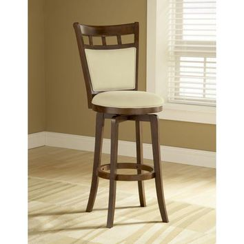 Hillsdale Furniture 4975-826 Dynamic Designs Brown Cherry Jefferson Wood Swivel Counter Stool