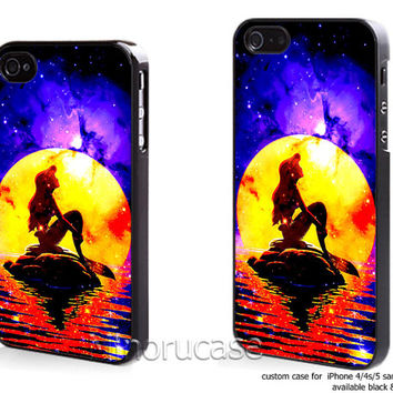 little mermaid Custom case For iphone 4/4s,iphone 5,Samsung Galaxy S3,Samsung Galaxy S4 by minorucase on etsy