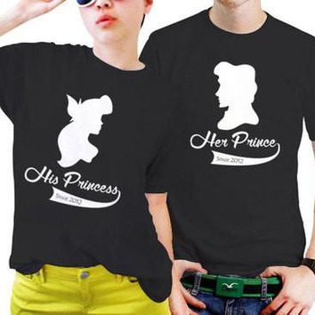 Prince and princess couple shirt