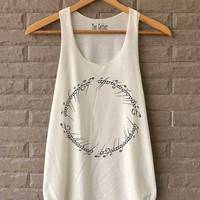 The Ring Signature Shirt The Lord of The Ring Symbol Shirts Tank Top  Women Size S M L