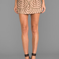 Karina Grimaldi Deco Beaded Skirt in Blush