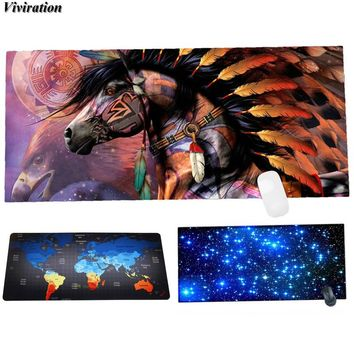 Viviration 2017 The Most Popular Indian Horse Picture Print Mouse Pad Mat Fashionable Computer Gaming Mouse Pad Keyboard Mat