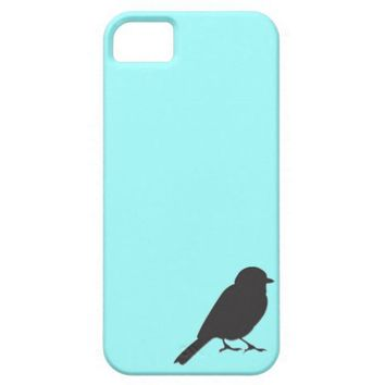 Sparrow silhouette chic tiffany blue swallow bird iphone 5 cases from Zazzle.com