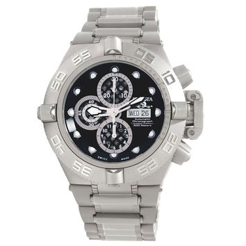 Invicta 11046 Men's Subaqua Noma IV Black Dial Titanium & Steel Bracelet Chronograph Automatic Dive Watch