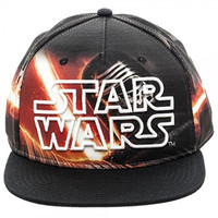 New Star Wars Kylo Ren Sublimated Logo Snapback Hat Cap Adjustable Adult Sz