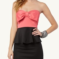 Bow Front Peplum Dress | Casual | rue21
