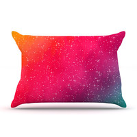 "Fotios Pavlopoulos ""Colorful Constellation"" Pink Glam Pillow Case"