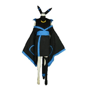 Customized Pokemon Umbreon Cosplay costume dress with socks and hair accessory