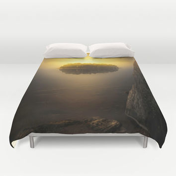 Heat Duvet Cover by HappyMelvin