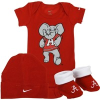 Nike Alabama Crimson Tide Newborn 3-Piece Box Set - Crimson