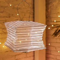 "Soji™ Silk Effects 12"" Square Solar Lantern 