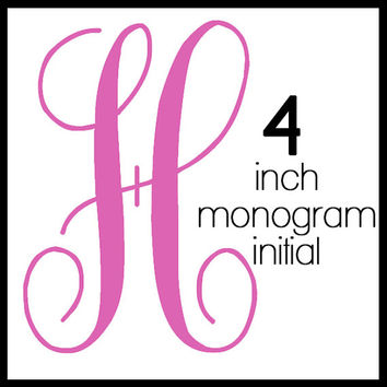 4-inch Tall Initial Monogram Decal
