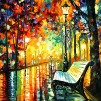 SHE LEFT... — PALETTE KNIFE Oil Painting On Canvas By Leonid Afremov - Size 36x30. use 10% discount coupon - deviantart10off