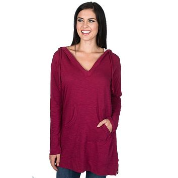 Zoey Tunic in Cranberry by Lauren James - FINAL SALE