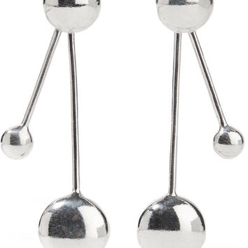 Pamela Love - Large Satellite silver earrings