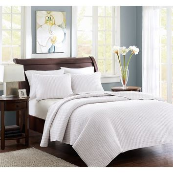 Hamptons White Coverlet Set