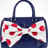 Disney Parks Minnie Nautical Barrel Bag by Loungefly New with Tags