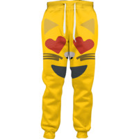 Emoji Cat Heart Eyes Joggers