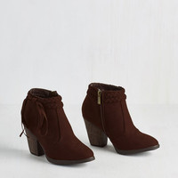 Minimal As Plait Would Have It Bootie by ModCloth