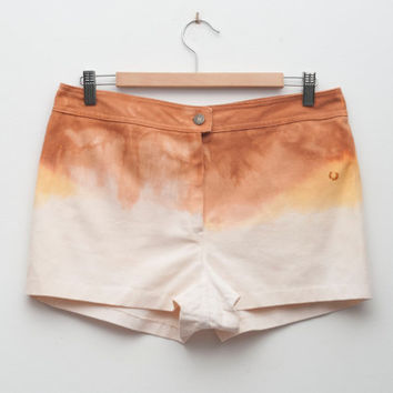 Dip Hand dyed Dead Stock Vintage white Jeans Shorts
