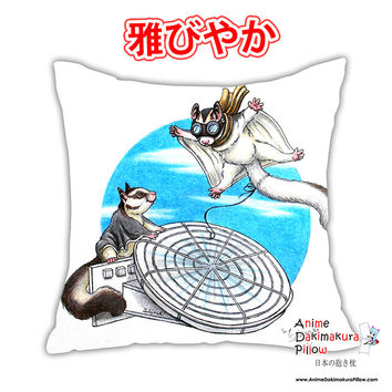 New Sugarglider Anime Square Dakimakura Japanese Pillow Cover Custom Designer Schiraki ADC358