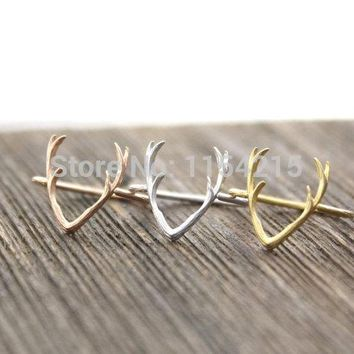 Fashion Antler Ring Animal Rings Deer Rings for Women Simple Rings Gift EY-R136