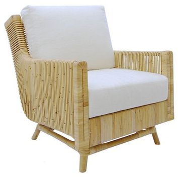 Calistoga Accent Chair, White Linen - Selamat - Brands | One Kings Lane