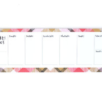 Pink Plaid Weekly Notepad
