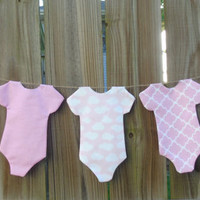 Baby Girl Onesuit Banner, Gender Reveal, Baby Shower Decor