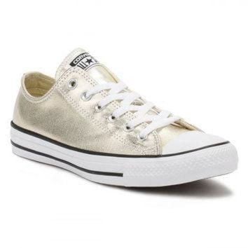 CREYONB Converse All Star Chuck Taylor Womens Metallic Light Gol 563f34f450