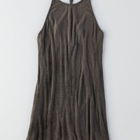 AEO Women's Don't Ask Why Ribbed Hi-lo Dress (Black)