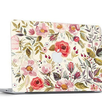 Morning Floral Medley Skin Decal for Macbook Air & Mac Pro - Special One of a Kind Gift
