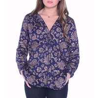 Navy & Gold Henna Tunic