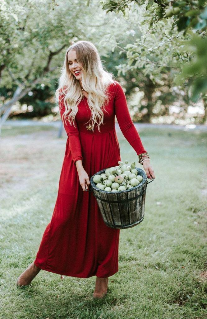3b6b1b5a5c Ella Burgundy Long Sleeve Maternity Maxi from Lucky Duck Boutique