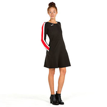 Mass Effect N7 Armour Stripe Long Sleeve Skater Dress