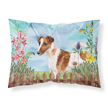 Smooth Fox Terrier Spring Fabric Standard Pillowcase CK1209PILLOWCASE