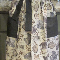 Women's French Cafe Coffee Half-Apron