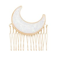 Blackheart Opal Moon Hair Comb