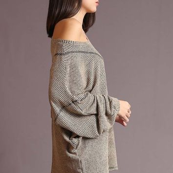 Relax Boatneck Top - Taupe