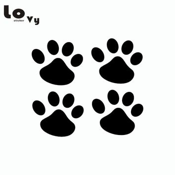 4Pcs Cat Paw Car Sticker Cartoon Animal Vinyl Car Decal