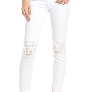 MOTHER The Looker Frayed Ankle Skinny Jeans | Nordstrom