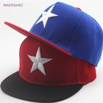 Trendy Winter Jacket MAERSHEI 2018 Children's Big Five Baseball Hat kids caps boy outdoor street dance cap AT_92_12