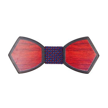 Mantieqingway Mens Pattern Wood Butterfly Shape Bow Ties for Wedding Suits Wooden Bow Tie Mens Novelty Bow Tie Bowknots Cravat