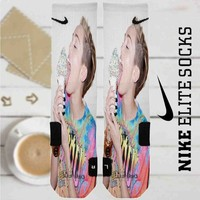 Miley Cyrus Ice Cream Custom Nike Elite Socks