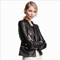 Women PU Leather Jacket Plus Size XS-4XL designer fashion outerwear jacket