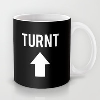Turnt Up Arrow Black Print Mug by RexLambo