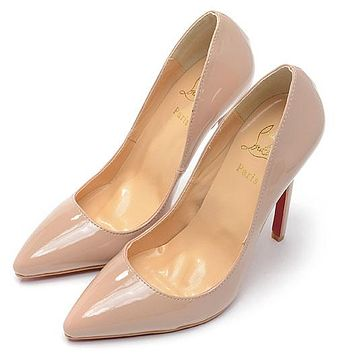 Christian Louboutin Fashion Edgy Pointed Red Sole Heels Shoes 5e5186354