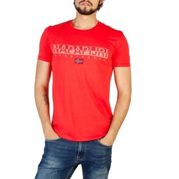 Napapijri Men Red T-shirts