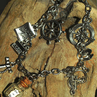 Pirates of the Caribbean Charm Bracelet Disney Inspired by Life is the Bubbles