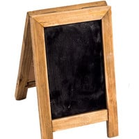 Mini Two Sided Free Standing Wood Frame Chalkboard for Counter - 9-in Natural